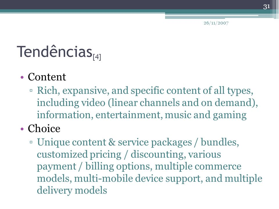 Tendências[4] Content Choice